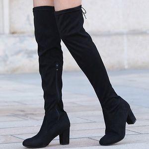 Black thigh high boots 8 1/2